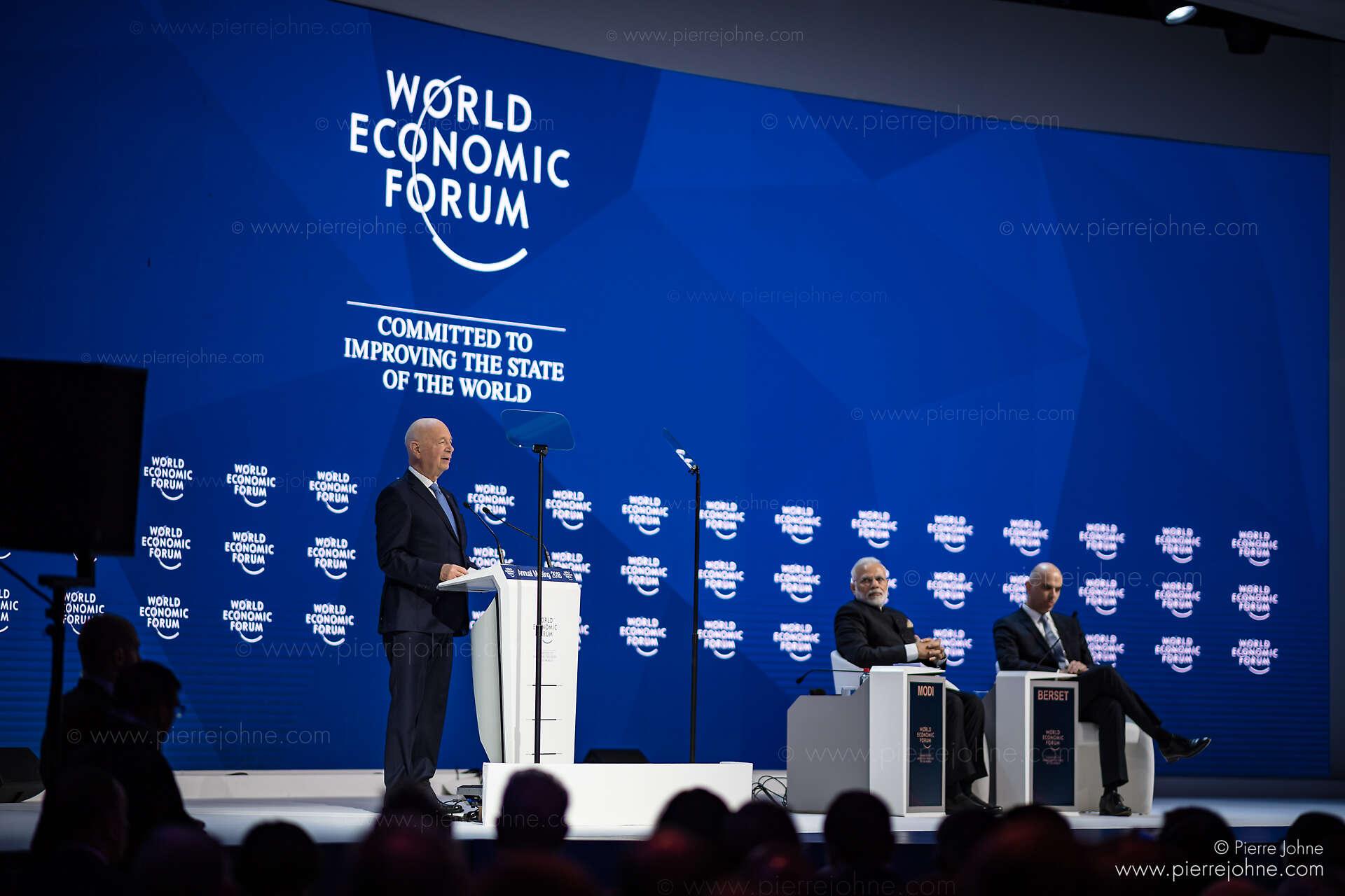 Klaus Schwab, Narendra Modi, Alain Berset